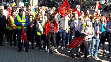 Warnstreiks im Bankgewerbe am 17.05.2019 in Karlsruhe